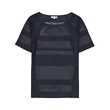 Buy Reiss Polo Jersey Strip Tee, Indigo Online at johnlewis.com