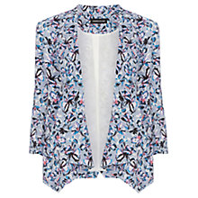 Buy Warehouse Drawn Floral Drape Front Jacket, Multi Online at johnlewis.com