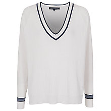 Buy French Connection St Germain Knit Jumper, Winter White/Prussian Blue Online at johnlewis.com
