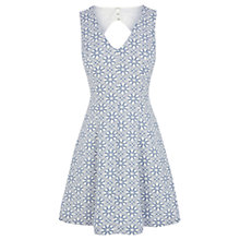 Buy Oasis Jacquard Fit And Flare Dress, Blue Online at johnlewis.com