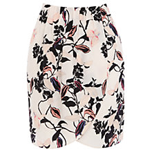Buy Oasis Trailing Floral Skirt, Light Neutral Online at johnlewis.com