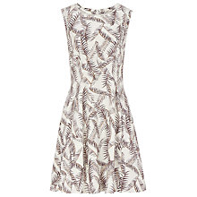 Buy Reiss Ivy Sheer Panel Dress, Olive Online at johnlewis.com