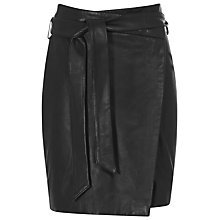 Buy Reiss Merron Asymmetric Skirt, Black Online at johnlewis.com