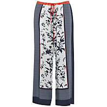 Buy French Connection Drape Wide Leg Trousers, Utility Blue Online at johnlewis.com