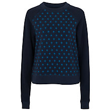 Buy French Connection Nightsky Sweatshirt, Utility Blue/Multi Online at johnlewis.com