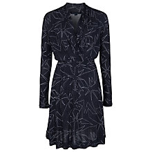 Buy French Connection Supernova Flare Dress, Black Online at johnlewis.com