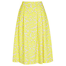 Buy Warehouse Animal Print Midi Skirt, Multi Online at johnlewis.com