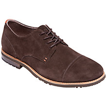 Buy Rockport Ledge Hill Two Plintoe Suede Toe Cap Shoes, Bitter Chocolate Online at johnlewis.com
