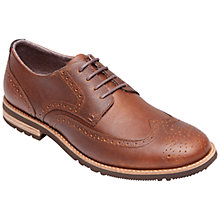 Buy Rockport Ledge Hill Two Wing Oxford Leather Shoes, Dune Online at johnlewis.com