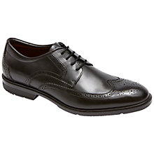 Buy Rockport City Smart Wing Tip Brogue Shoes, Black Online at johnlewis.com
