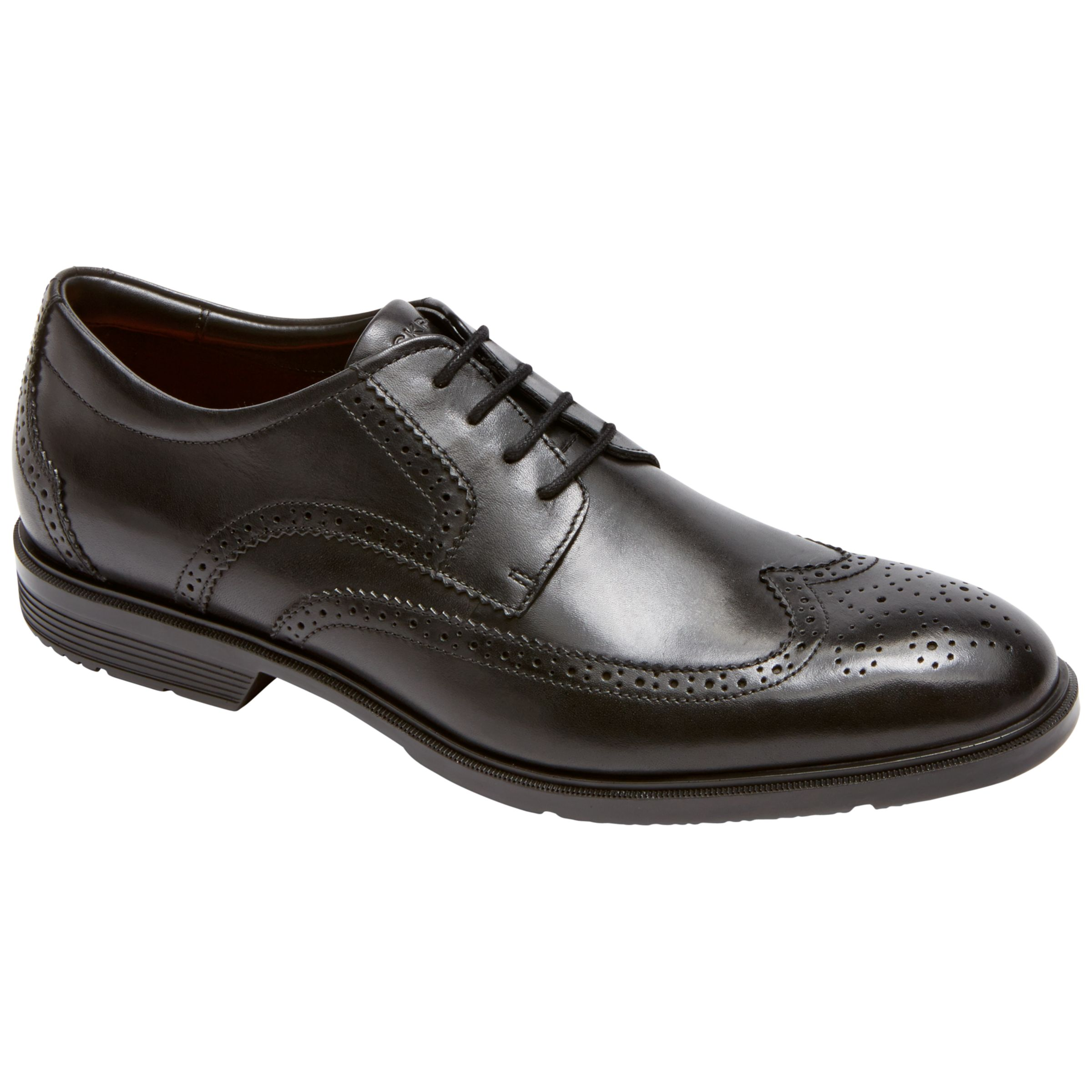 Rockport Rockport City Smart Wing Tip Brogue Shoes, Black