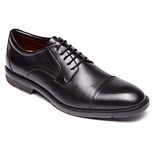 Buy Rockport City Smart Toe Cap Derby Shoes, Black Online at johnlewis.com