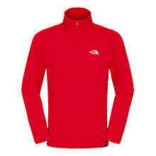 Buy The North Face Glacier 100 1/4 Zip Fleece, Red Online at johnlewis.com