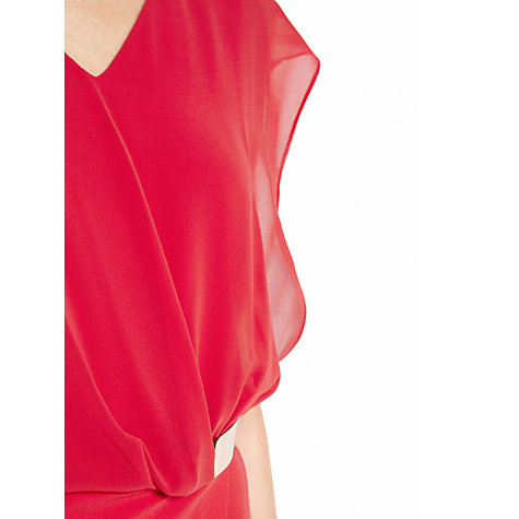 Buy Warehouse Belted Wrap Dress, Bright Pink Online at johnlewis.com