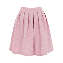 Buy Warehouse Jacquard Floral Skirt, Pink Pattern Online at johnlewis.com