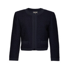 Buy Jaeger Bouclé Cropped Wool Jacket, Navy Online at johnlewis.com
