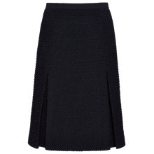 Buy Jaeger Boucle Pleat Skirt, Navy Online at johnlewis.com