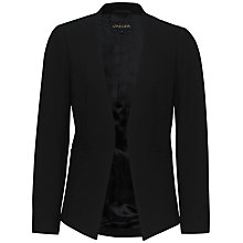 Buy Jaeger Fitted Colette Jacket, Black Online at johnlewis.com
