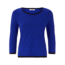 Buy Precis Petite Spot Design Jumper, Blue/Black Online at johnlewis.com