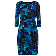 Buy Precis Petite Floral Print Dress, Black Online at johnlewis.com
