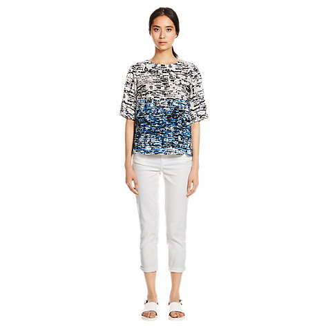 Buy Warehouse Border Texture T-Shirt Online at johnlewis.com