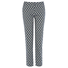 Buy Warehouse Floral Geo Print Trousers, Multi Online at johnlewis.com