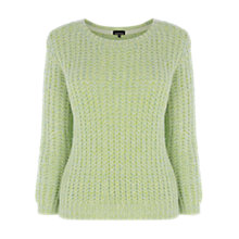 Buy Warehouse Mesh Marble Jumper, Yellow Online at johnlewis.com