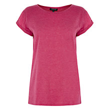 Buy Warehouse New Boyfriend Tee, Bright Pink Online at johnlewis.com