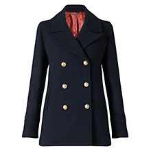 Buy Jigsaw London Coating Pea Coat, Navy Online at johnlewis.com