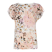 Buy Warehouse Trailing Floral Print Tee, Light Pink Online at johnlewis.com