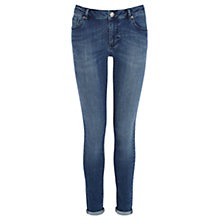 Buy Warehouse Supersoft Skinny Jeans, Indigo Online at johnlewis.com