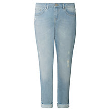 Buy Jigsaw Hampton Rip And Repair Jeans, Light Blue Online at johnlewis.com