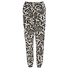 Buy Warehouse Jungle Print Trousers, Black Pattern Online at johnlewis.com