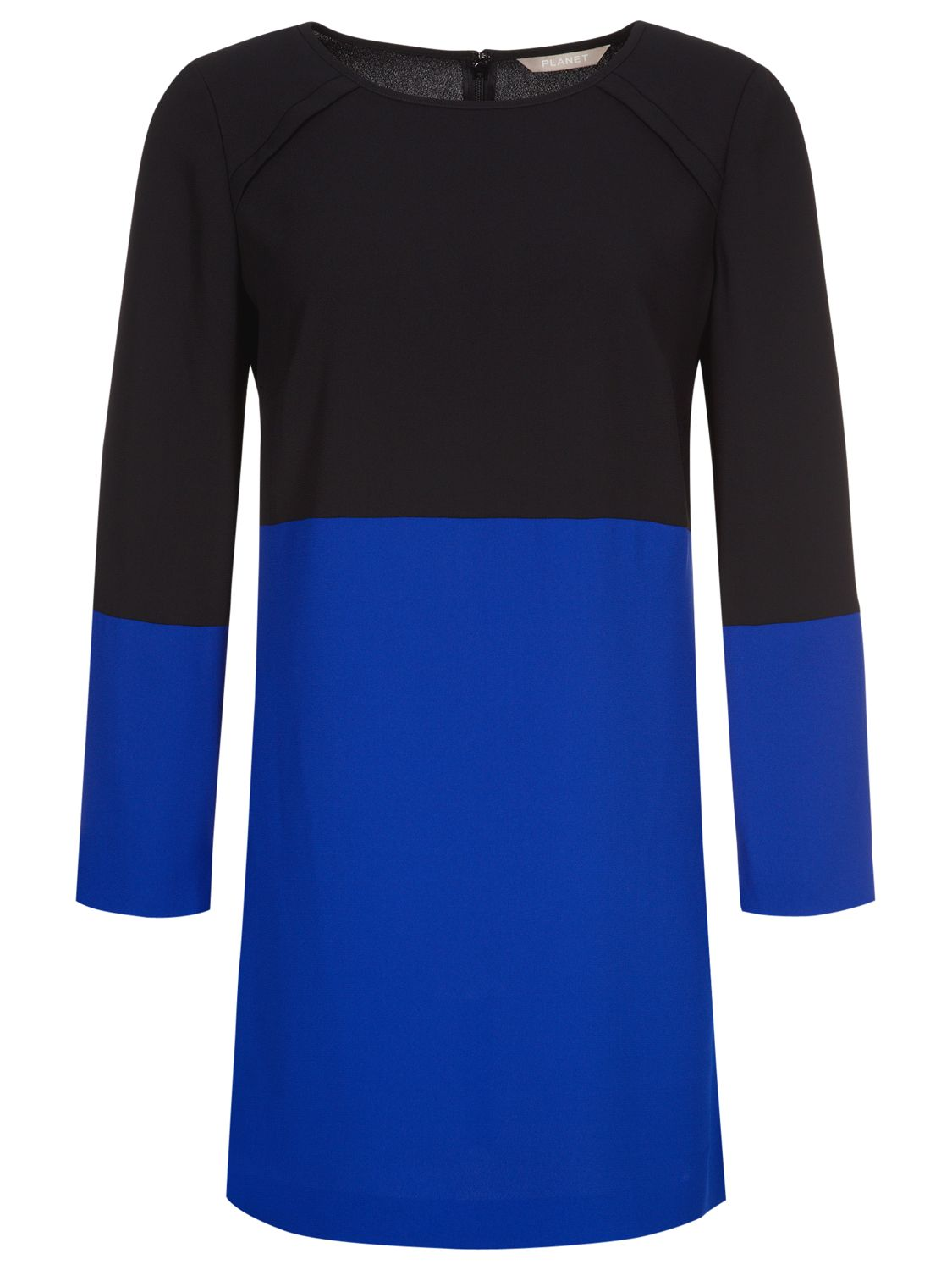 planet colour block tunic dress black/blue, planet, colour, block, tunic, dress, black/blue, 12|14, clearance, womenswear offers, womens dresses offers, women, plus size, inactive womenswear, new reductions, womens dresses, special offers, 1601126