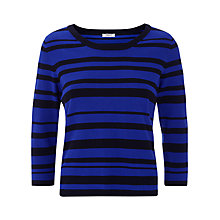 Buy Precis Petite Striped Jumper, Blue/Black Online at johnlewis.com