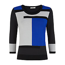 Buy Precis Petite Colourblock Jumper, Multi Dark Online at johnlewis.com