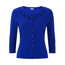 Buy Precis Petite Embroidered Cardigan, Cobalt Online at johnlewis.com