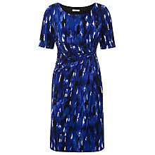Buy Precis Petite Brushstroke Print Dress, Black Online at johnlewis.com