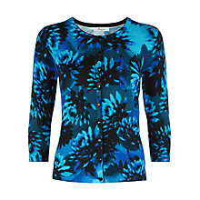 Buy Precis Petite Floral Print Cardigan, Multi Dark Online at johnlewis.com