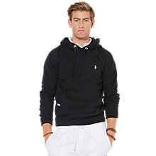 Buy Polo Ralph Lauren Fleece Hoodie, Polo Black Online at johnlewis.com