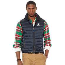 Buy Polo Ralph Lauren Padded Gilet, Aviator Navy Online at johnlewis.com