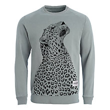 Buy Supremebeing Leopard Sweatshirt, Grey Marl Online at johnlewis.com