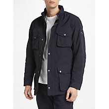Buy Hackett London Winter Velo-Speed Coat, Navy Online at johnlewis.com
