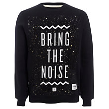 Buy Supremebeing Bring The Noise Cotton Sweatshirt, Black Online at johnlewis.com