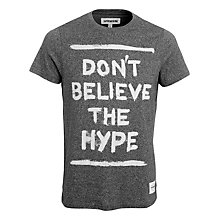 Buy Supremebeing Don't Believe The Hype T-Shirt, Grey Marl Online at johnlewis.com