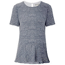 Buy Whistles Stripe Peplum Top, Blue/Multi Online at johnlewis.com