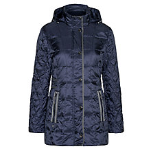 Buy Gerry Weber Quilted Hood Coat, Navy Online at johnlewis.com
