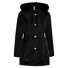 Buy Gerry Weber Faux Fur Trim Coat, Black Online at johnlewis.com
