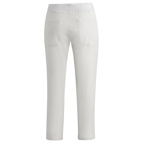 Buy Joules Womens Jersey Twill Trousers, White Online at johnlewis.com