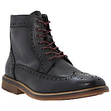 Buy Bertie Colour Pop Leather Brogue Boots, Black Online at johnlewis.com